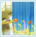 pescado de la cortina de ducha de tela