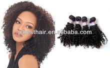 Afro curl doe black woman China supplier 100% Brazilian virgin remy human hair weft/weaving/weave