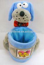 cute dog plush toy pen holder