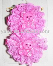 Cute bear baby girl hair accesories
