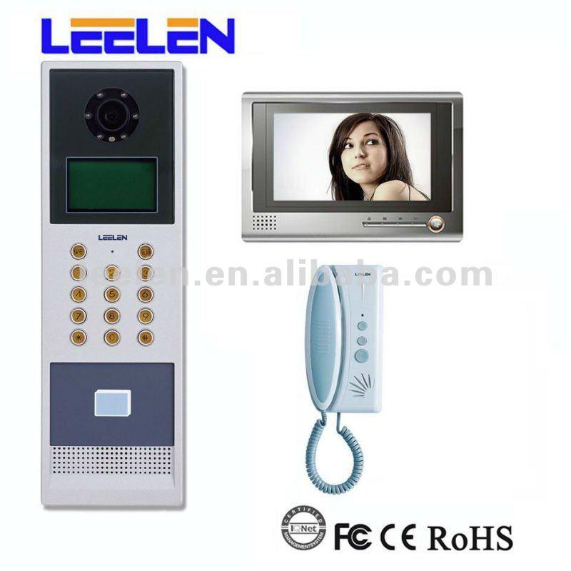 7 polegada de entrada de vídeo porta para apartamentos com capacidade de até 431 apartamentos