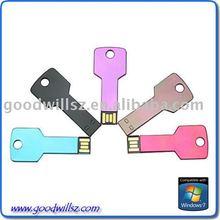 colorful 16G metal usb memory stick 2.0,fashion key usb stick free sample