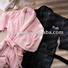 100 polyester coral fleece robe for women