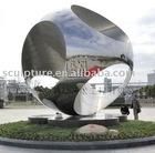 Urban sculpture stainless steel balls