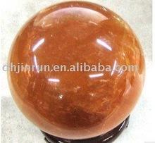 Wholesale supply Natural Rock Yellow Jade Ball/Sphere