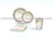 Wedding Decoration (Paper Napkin,Plate,Cup)