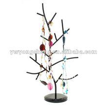 black metal fashionable tree necklace holder