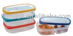 Microwavable food plastic container