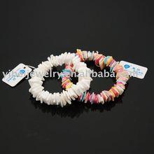 handmade elegant christmas shell stretch bracelets /diy christmas shell jewelry