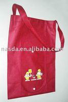 Folding bags handbags long handle bag for shop
