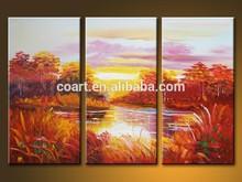 "Original Oil painting art Knife Landscapes on Canvas 30""X30"""