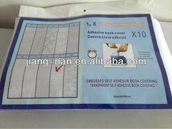JN-1003 Self Adhesive Transparent PVC Printed Book Cover