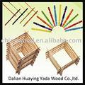 hobby e ranhuras de madeira de bétula ofício varas para artes e ofícios de projeto