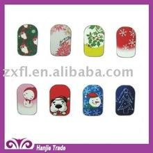 Latest Christmas Tree Pattern Fingernail Nail Art Design For Christmas