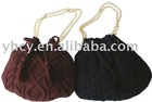Straw knitted tote bag