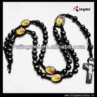 Black Wooden Beads Men's Rosary