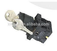 3 position key lock push button switch 2N/O LAY5-EG33