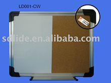 aluminum frame magnetic whiteboard and cork board