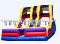 2012 hot sales colorful big inflatable slide