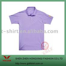 men's organic cotton plain solid color golf clothing