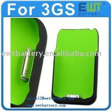 1800mAh 3Gs Green iphone Portable Backup Battery Case