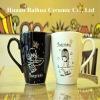 ceramic white black mug for lover