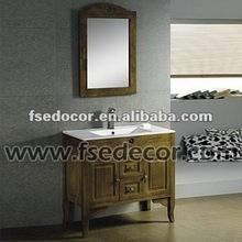 Antique Solid Wood Floor Standing Cheap Bathroom Vanity Mirrors