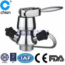 Stainless steel sanitary asepsis sampling valve