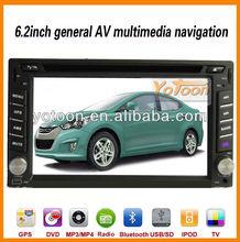 2 Din Car GPS / 6.2 inch Touch Screen 2 Din Car GPS / Ipod / DVB-T TV / Bluetooth / TF card / FM / AM /USB