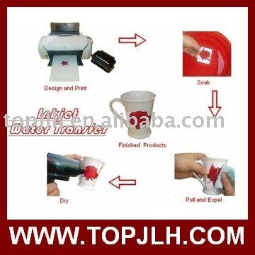 Inkjet printer water transfer paper