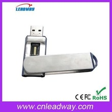 OEM business gift style safety swivel fingerprint usb flash drive
