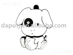 Cute puppy! oem mini cartoon usb flash disk 2.0