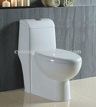 Ceramic toilet with soft close seat cover (CY1846P)