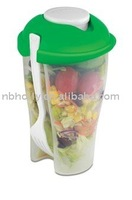 TV353-013 Plastic salad cup with fork as seen on tv