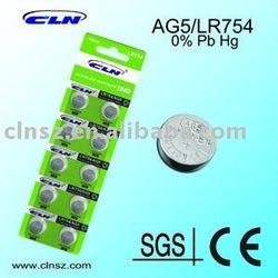 0% Hg AG5 Button Cell