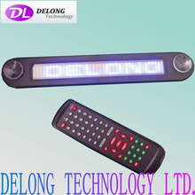 CE RoHS 12V 30cm length 7X40pixel indoor single color small thin mini smd blue led sign for car vehicle with scrolling messages