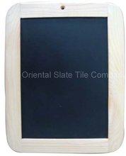 slate write blackboard with pine wood frame
