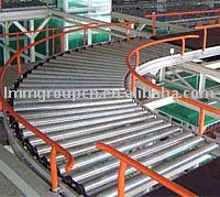 industrial curve single chain roller conveyor
