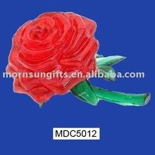 2015 Popular rose flower ceramic valentine craft