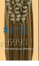 top quality 100% natural hair clip in human hair extension