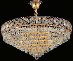 Classica de Design Handmade Teto Cristal Cut Montada Lighting Chandelier