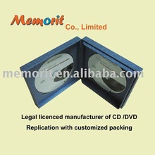 CD DVD Replication with cardboard book shape case