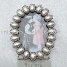 Desktop fashion pearls metal photo frame