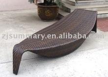 leisure rattan wicker outdoor garden furniture bed