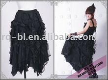 RQ-BL Brand New Punk Gothic Frills Half Long Skirt 21030BK