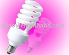 Half spiral bulbs save energy