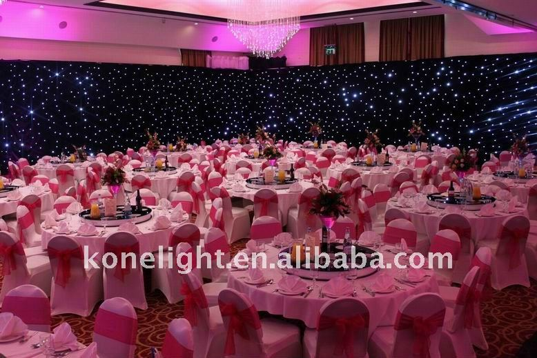 stage backdrop LED star curtain wedding decoration
