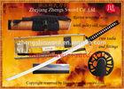 Handmade Quality japanese Sword and samurai katana 1095 clay tempered with real hamon saya with cane