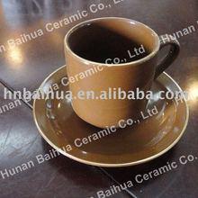 Espresso Macchiato coffee cup with saucer ceramic