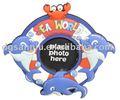 Yumuşak pvc/kauçuk sevimli aile çocuk resim/fotoğraf çerçevesi deniz hayvan